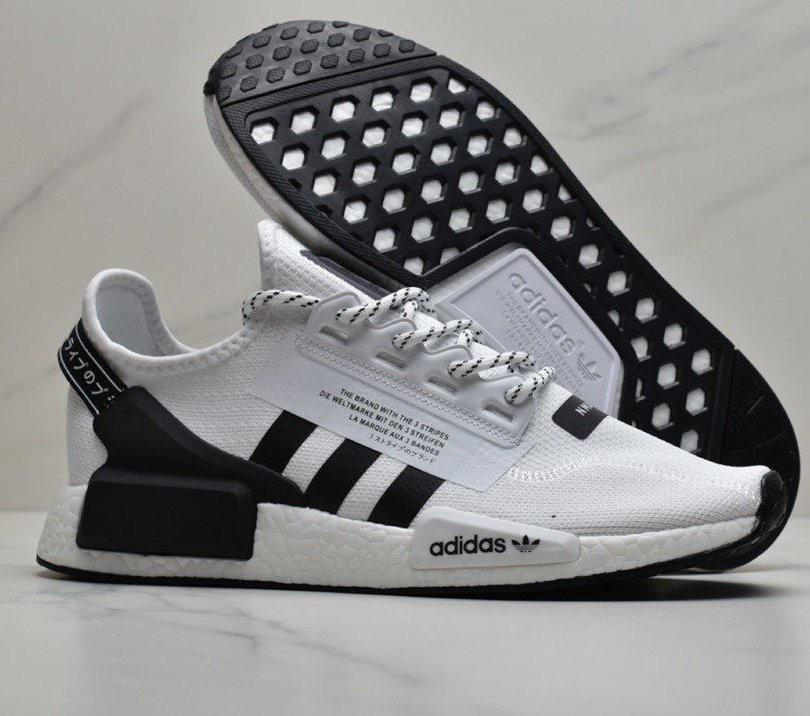 Adidas Men S Nmd R1 V2 White Core Black Men S Fashion Footwear Sneakers On Carousell