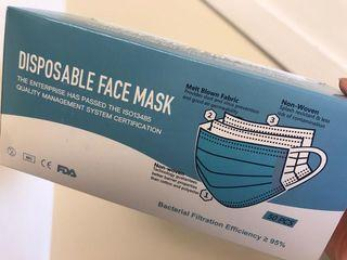 Brand new disposable face mask / ear loop face mask (50 pcs)