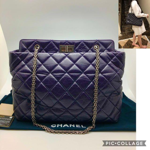 Chanel Reissue Calfskin Tote Shoulder bag RHW #17, Size: 29x27x14cm, Comes with dustbag, holo, authentic card, carecard