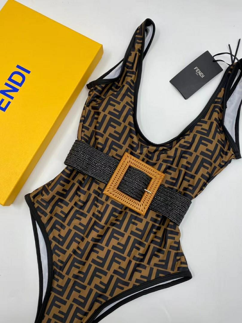 Fendi fashion women swimsuit one piece free shipping three colors