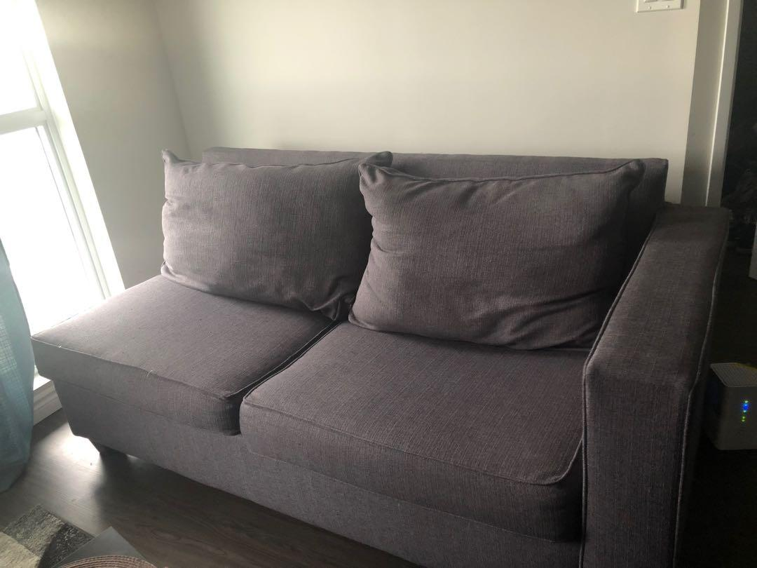 Grey pullout couch