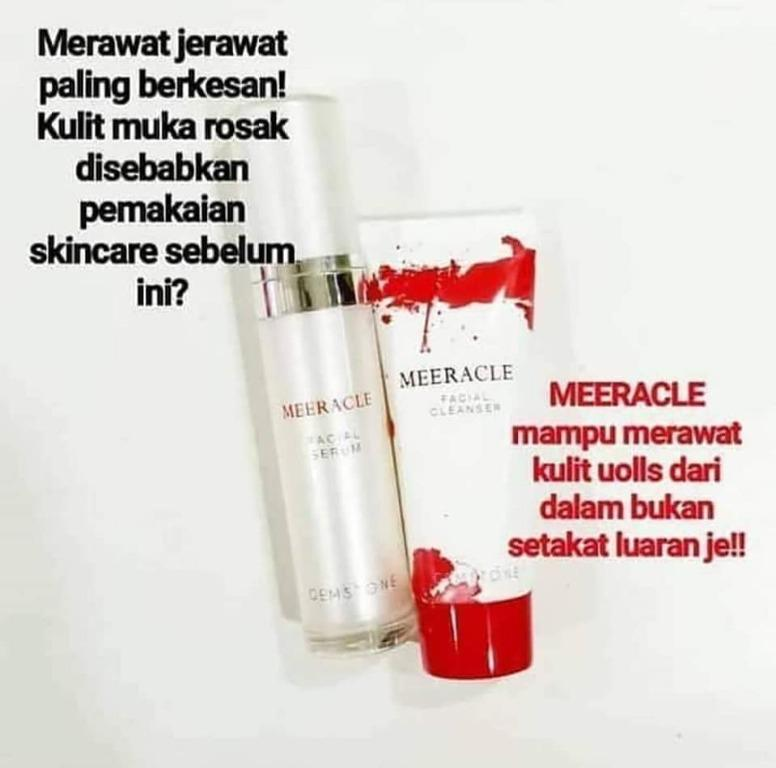 luxury skincare with only rm 128! realy make ur skin glow  and shine!MEERACLE