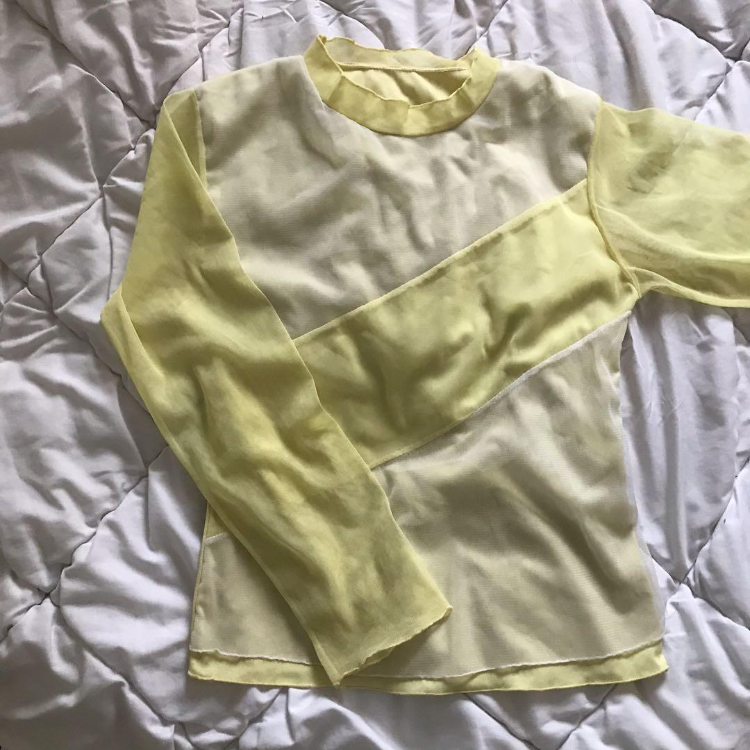 Mesh Yellow top