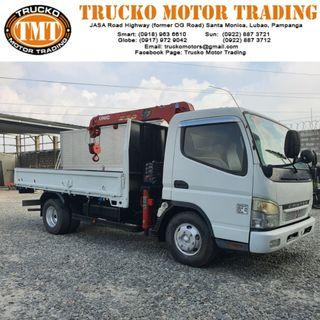 Mitsubishi Canter Boom Truck - 3 Section 2.3 Tons - dropside - New Arrival Japan Surplus