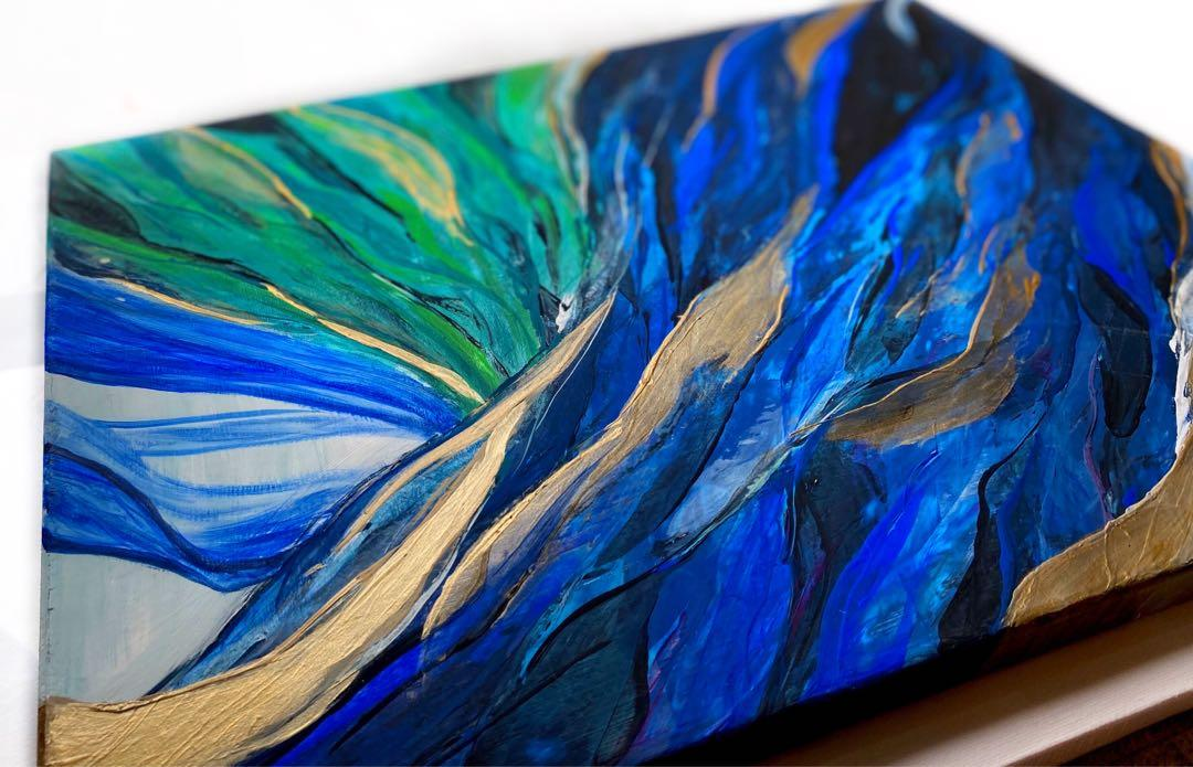 """""""Nature's Drift"""" - Original Abstract acrylic Painting on Canvas"""