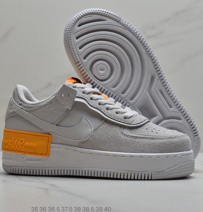 Nike Air Force 1 Shadow Vast Grey Laser Orange W Women S Fashion Shoes Sneakers On Carousell Unfollow nike air force 1 shadow 7.5 to stop getting updates on your ebay feed. nike