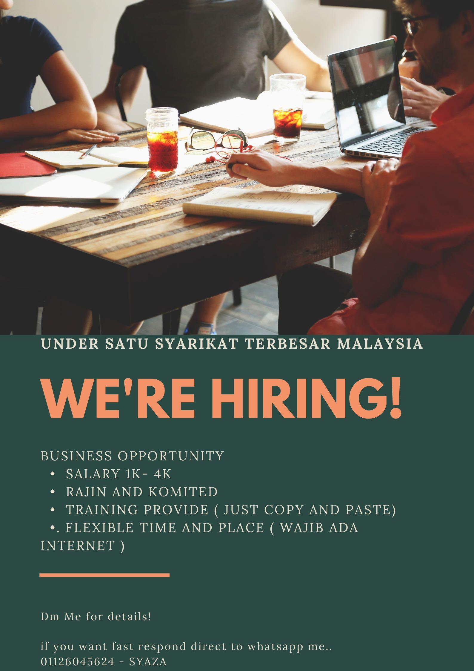 PARTIME AND FULLTIME JOB. Under One Big Company in Malaysia