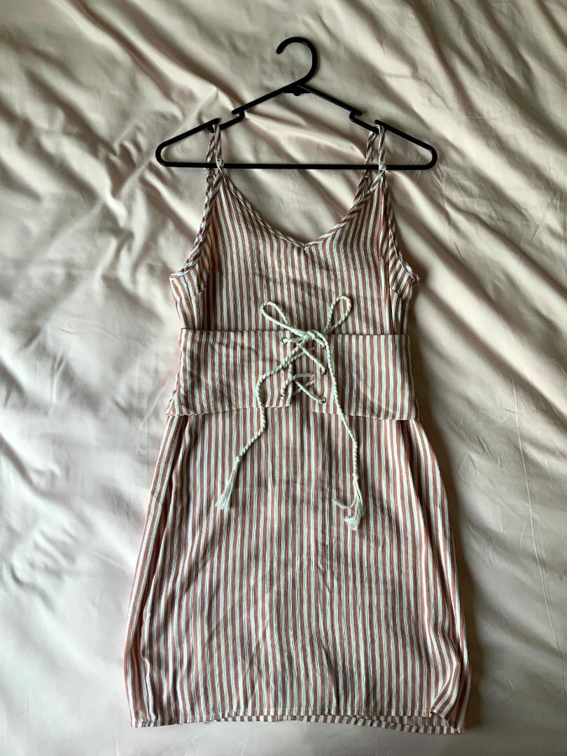 PLT stripped dress