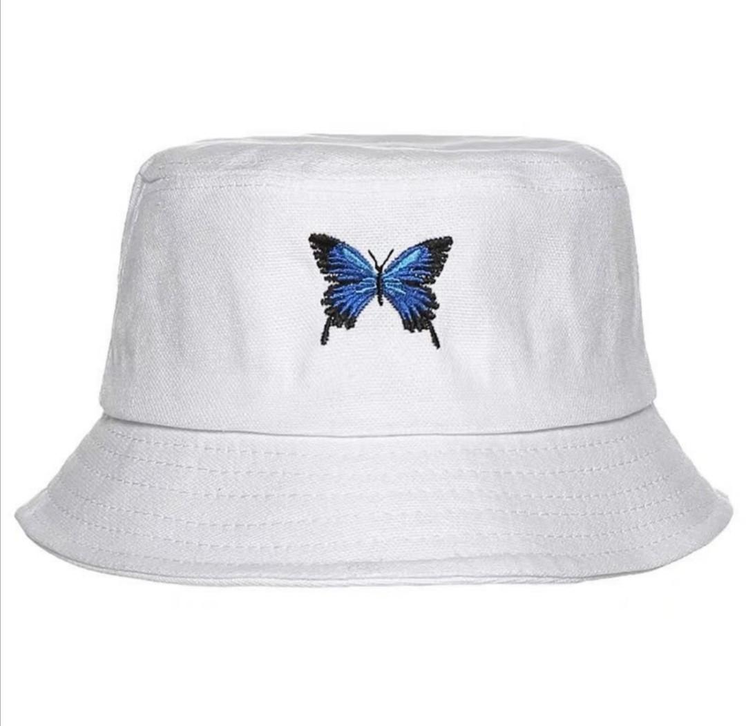 Po Ulzzang Aesthetic Y2k Tumblr Butterfly Embroidered Bucket Hat Women S Fashion Accessories Hair Accessories On Carousell