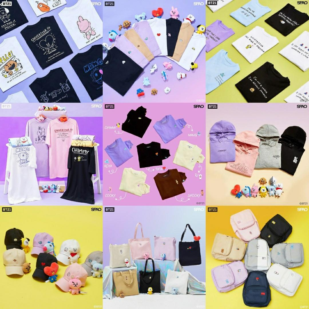 [PREORDER] Spao Malaysia x BT21 Collection Shopping Service (Available Until Sold Out)