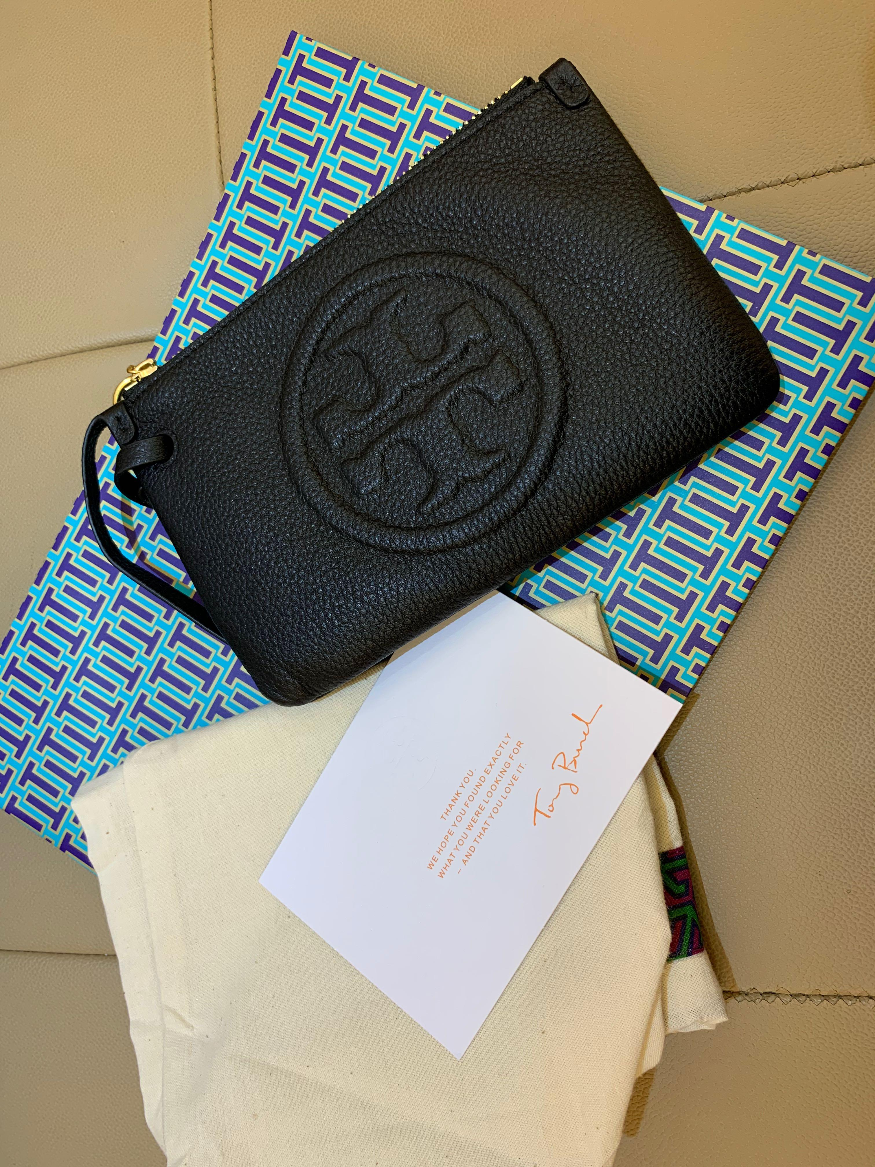 Ready Stock authentic Tory Burch wristlet coin bag card holder phone pouch