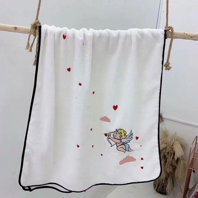 Ready Stock Jufy Towel Angel *Black Line Buy From Korea Shop