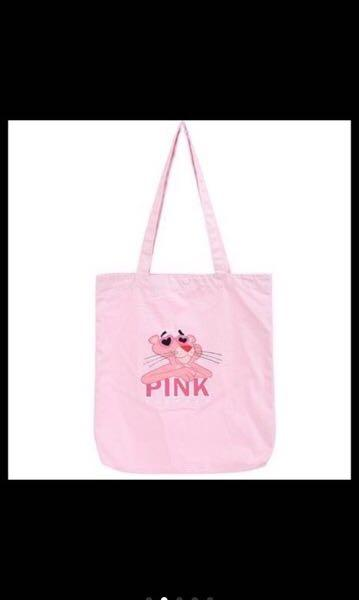 Ready Stock Miniso Korea Pink Panther Eco Bag Canvas Shopping Bag