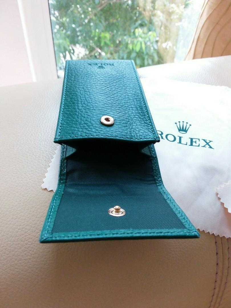 Rolex Watch Leather Pouch & Cleaning Cloth - Brandnew Set                                                                                Rolex Tudor Cartier Omega IWC AP Chopard Tag Heuer Apple