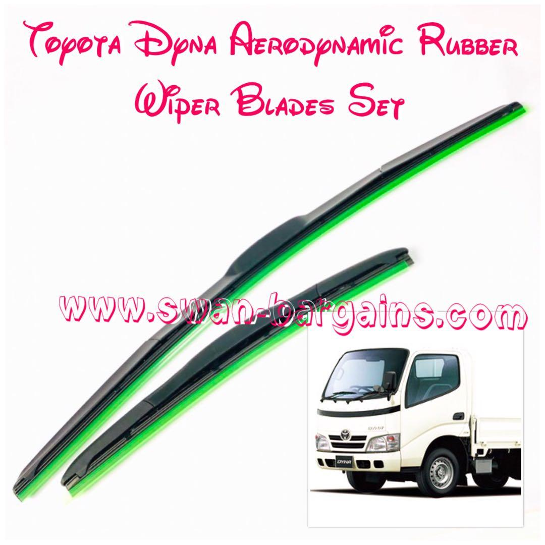 2pcs Toyota Dyna Aerodynamic Soft Rubber Wiper Strong Backbone Support Blades Set Clear Vision Smooth Judder Less Wiping Operations Car Accessories Accessories On Carousell