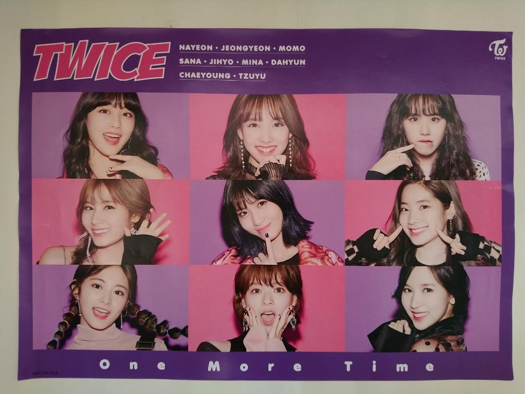 NEW FREE SHIPPING!! K POP-TWICE:ONE MORE TIME-promo poster(100% official original Japan limited edition绝版)