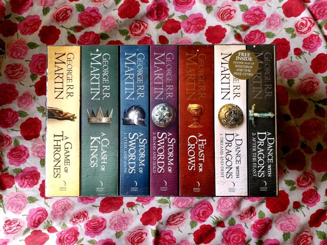 A Song of Ice and Fire / Game of Thrones by George R.R. Martin [7-book boxed set TRADE PAPERBACKS]