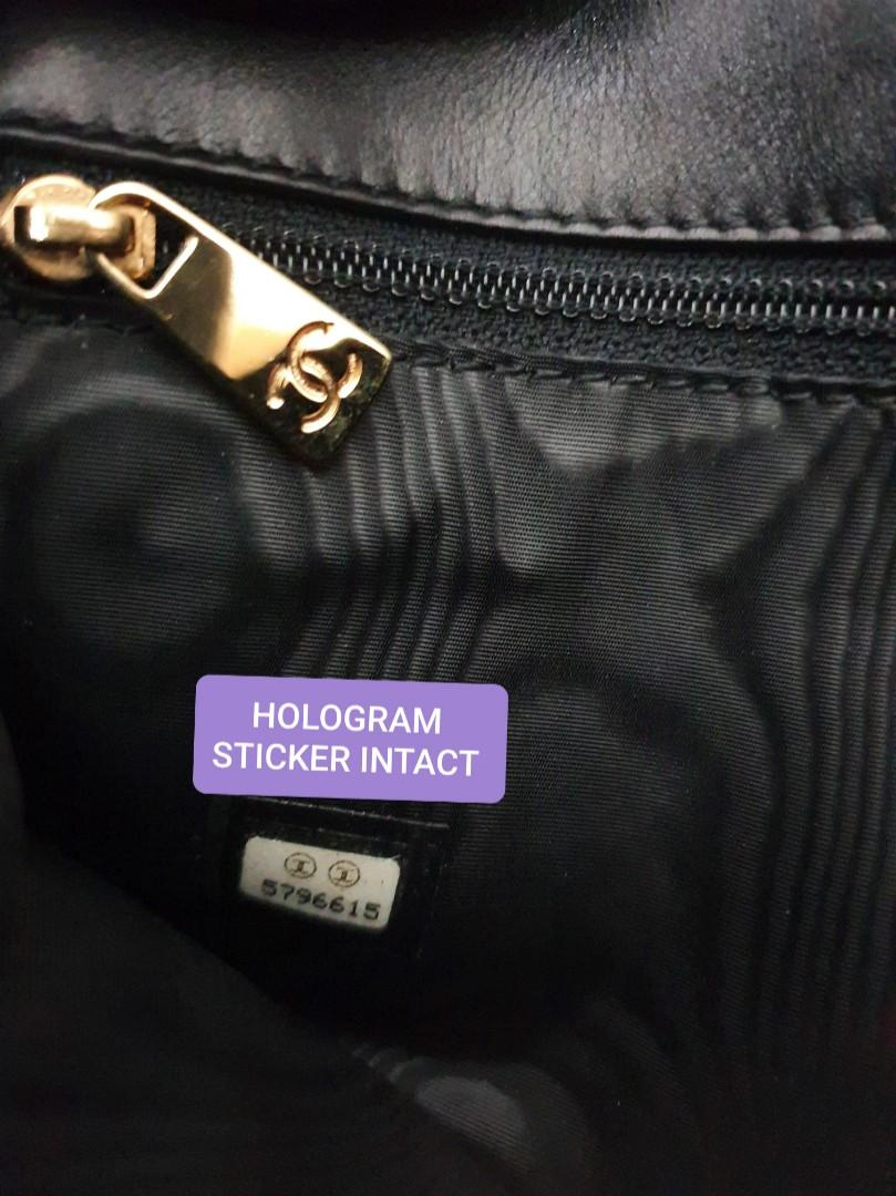 AUTHENTIC CHANEL BLACK CALFSKIN LEATHER- XL BIG ORGANIZER POUCH - CC LOGO DESIGN - LEATHER IN GOOD CONDITION, VERY CLEAN INTERIOR- GOLD HARDWARE- COMES WITH EXTRA ADD HOOKS &  STRAP - HOLOGRAM & DATE OF PURCHASE  STICKER INTACT,  WITH AUTHENTICITY CARD