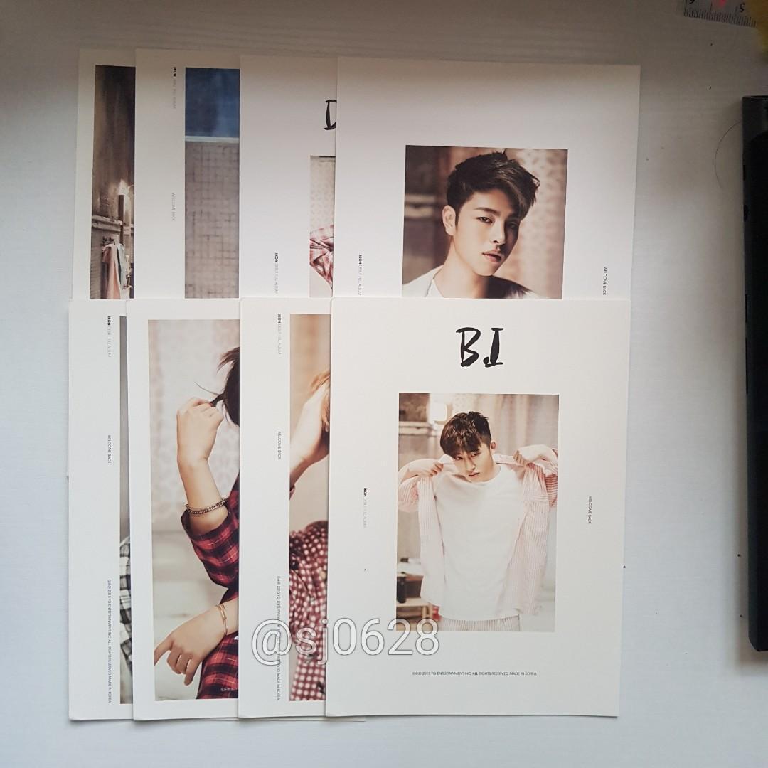 [B.I] Official Postcards - iKON WELCOME BACK (Red ver.)