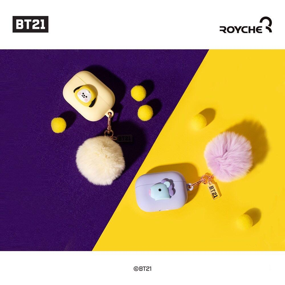 BT21 Official Merchandise - Baby Airpods Pro Case Pom Pom