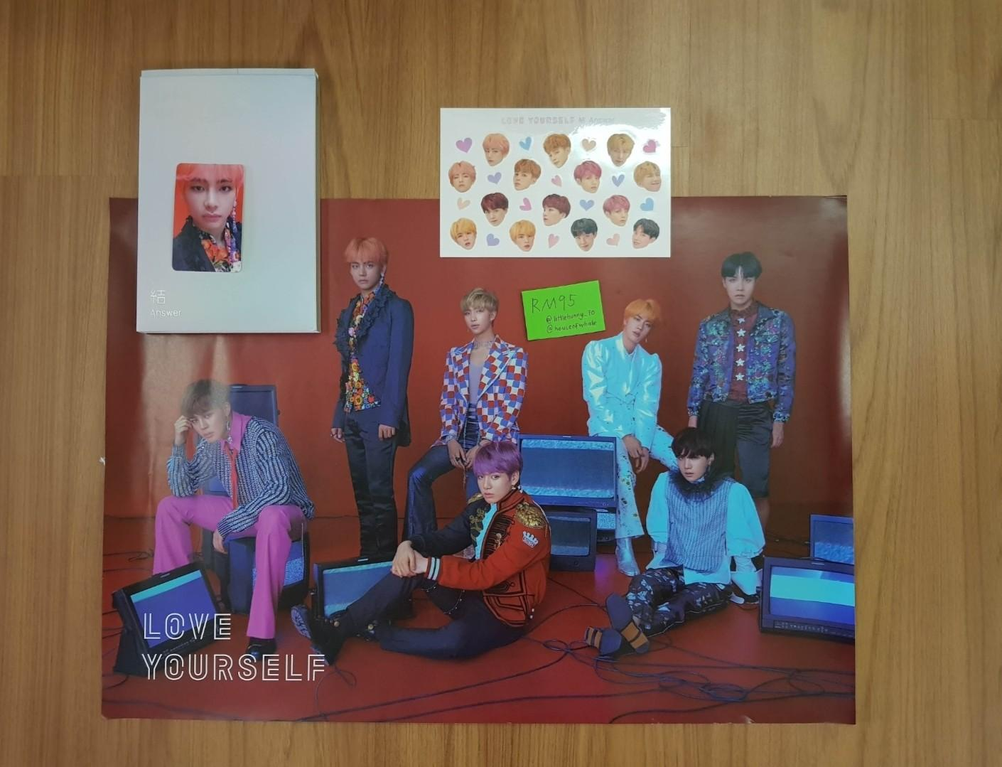 BTS Love Yourself Answer Album V Taehyung Photocard