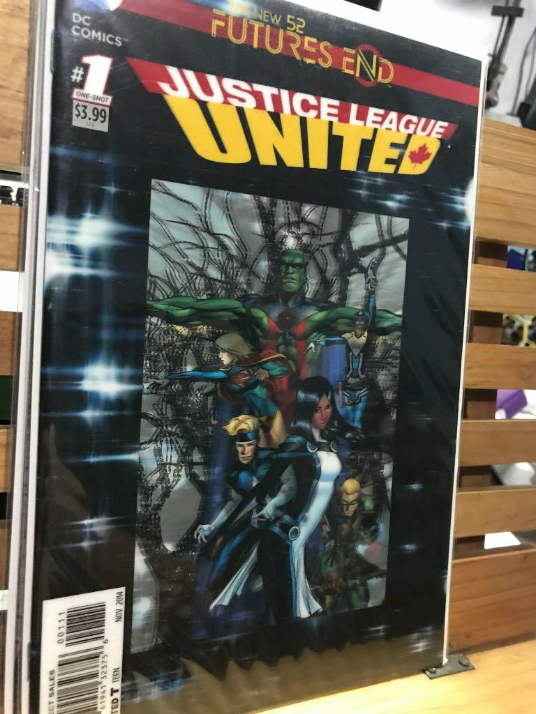 DC Comics Justice League United #1 One-shot Lenticular cover 3D New 52 Futures end