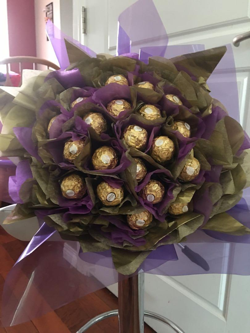 Homemade chocolate bouquets for all occasions
