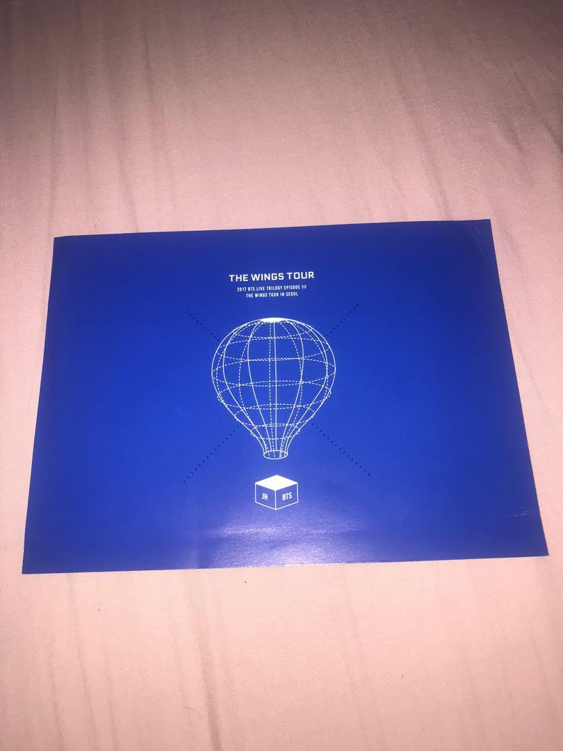 Jhope Postcard [BTS WINGS TOUR BLURAY - BTS WINGS TOUR POSTCARD] Jhope Photocard / Jhope PC