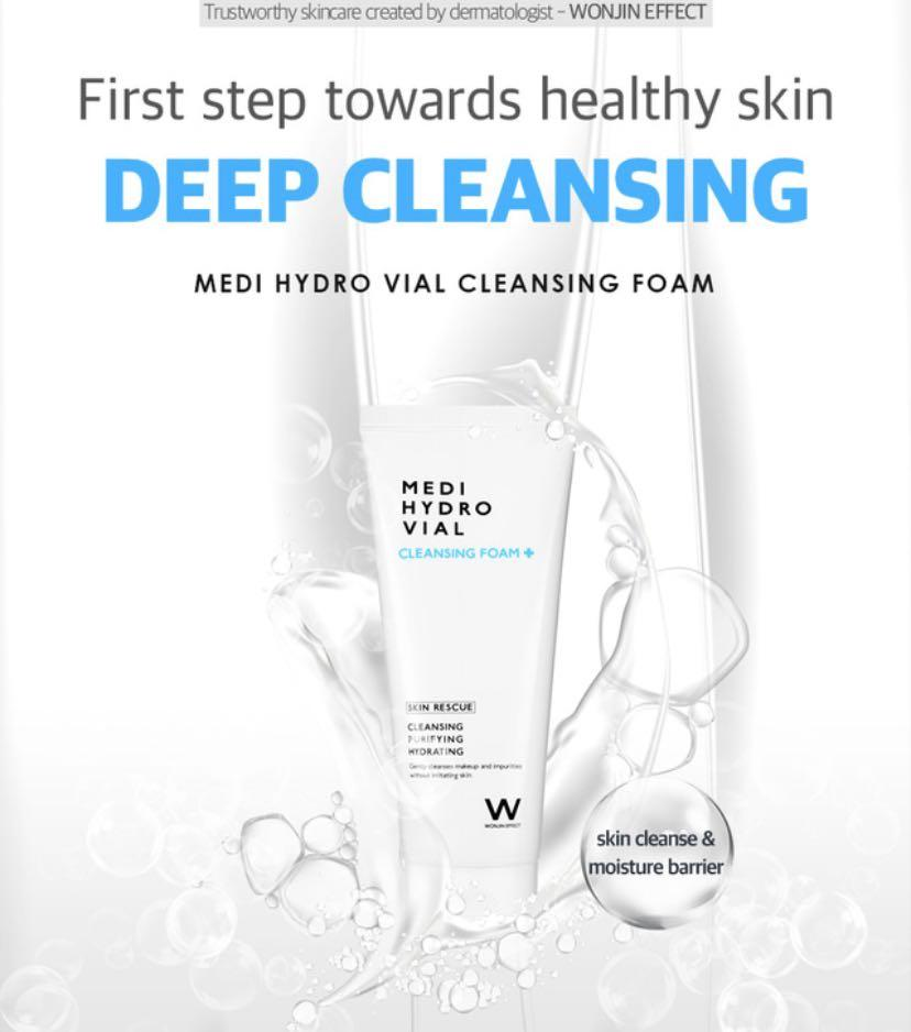 KOREA]Eta arrival 25-27 May: Wonjin Effect Medi Hydro Vial Cleansing Foam  80ml, Health & Beauty, Face & Skin Care on Carousell