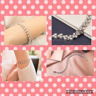 Lab diamond bracelet