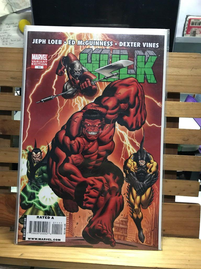Marvel Comics Hulk regular Red variant cover #11 Incredible Jeph Loeb McGuinness