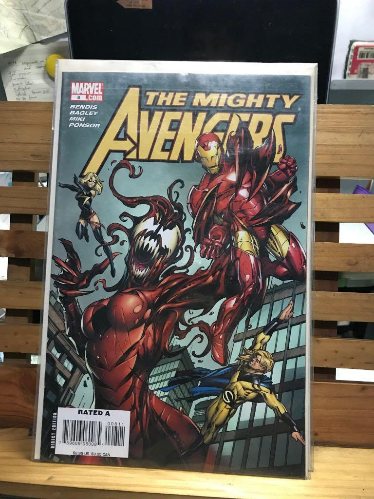 Marvel Comics The Mighty Avengers #8 Carnage Iron Man Sentry Ms. Marvel cover