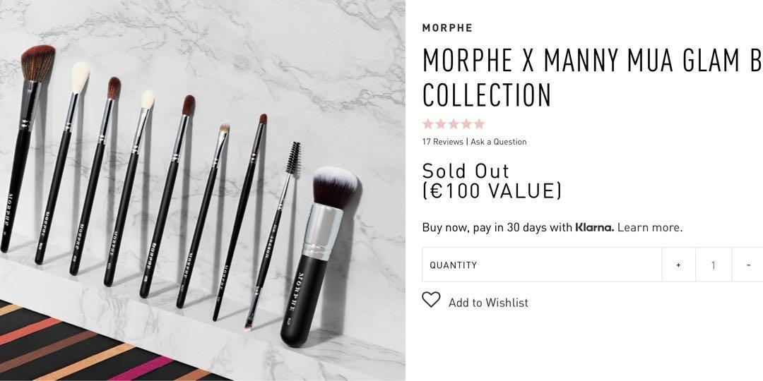 Morphe X Manny Mua glam collection brush set