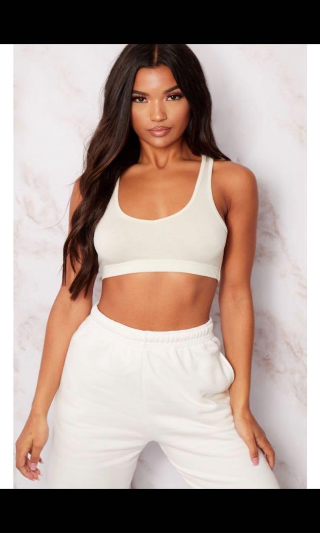 *NEW* Pretty Little Thing off white bra too sz 6uk (2us s)