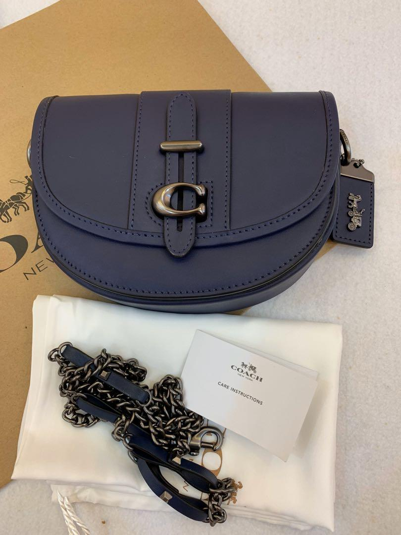 (Raya clearance)Authentic coach saddles bag 47924 crossbody sling bag handbag in purple