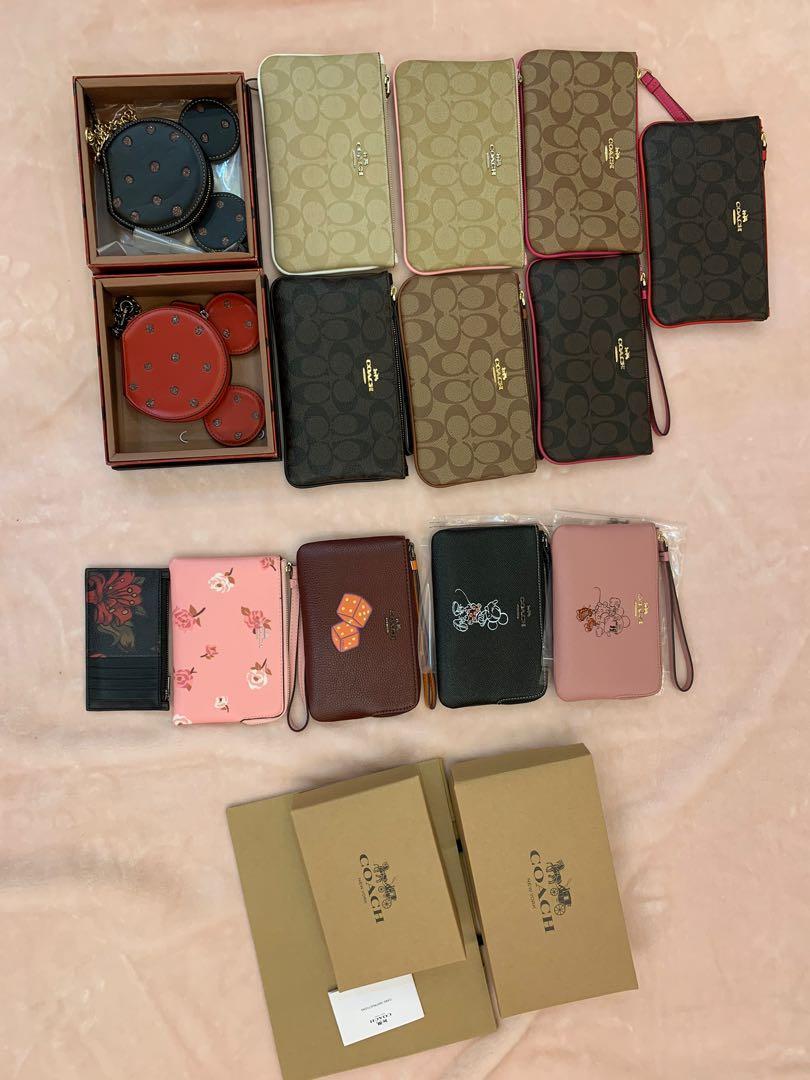 (Raya promotion)Wallet purse original coach coin bag card holder Wristlets monogram-canvas belt