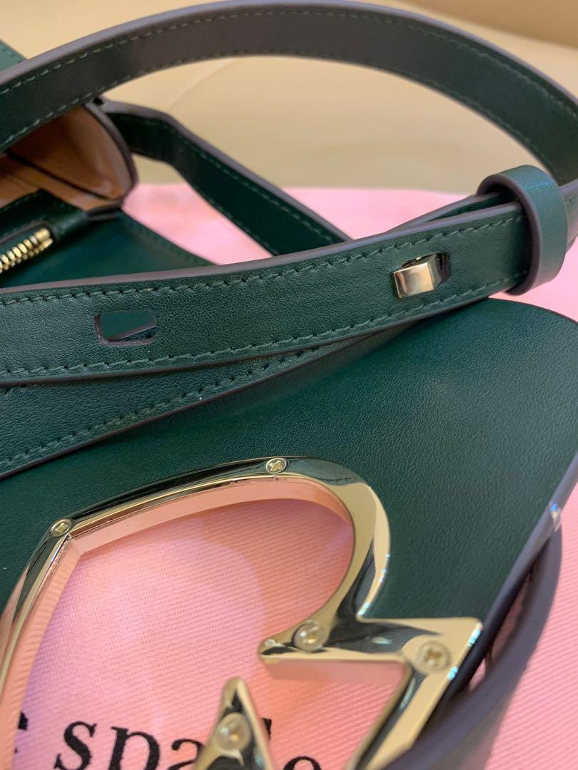 Ready Stock authentic Kate spade crossbody sling bag handbag ready stock switch lock in green