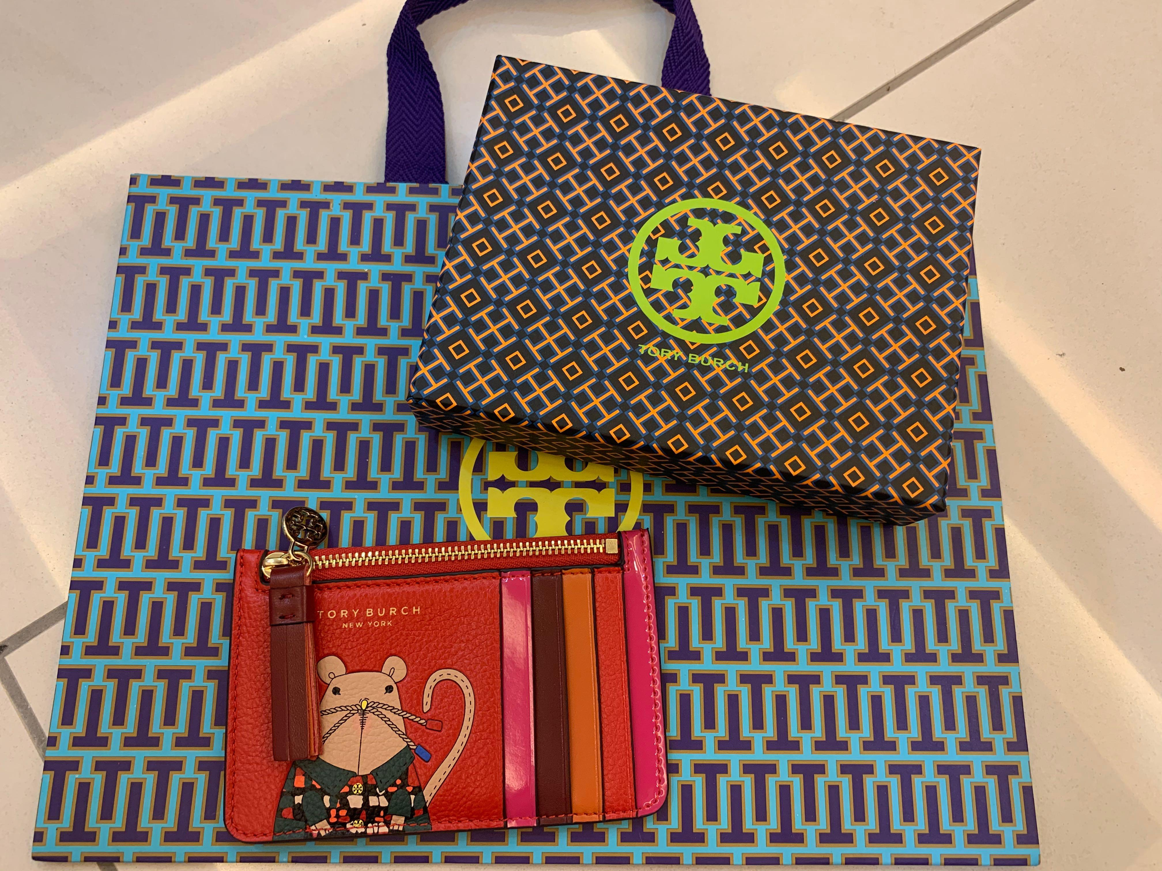 Ready Stock authentic lunar collection Tory Burch card holder with zip Mike jjj