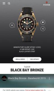 Retail price SGD 5688. TUDOR BLACKBAY BRONZE