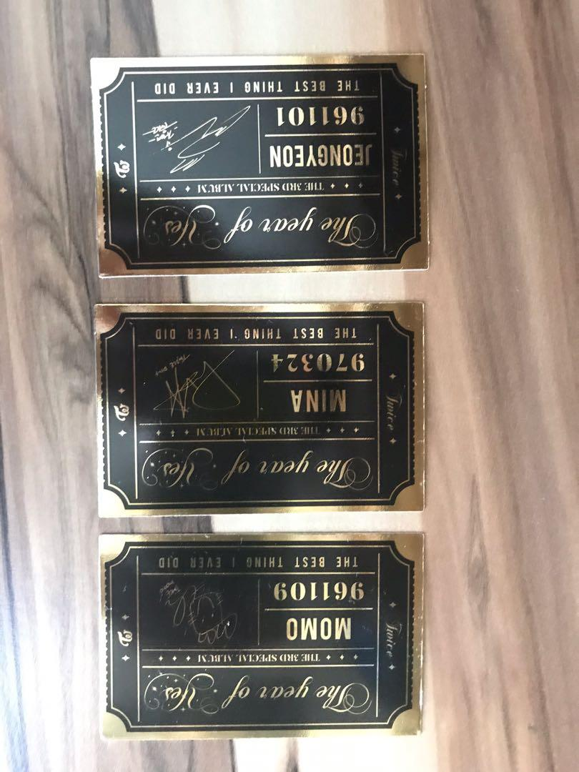 WTS TWICE (FEEL SPECIAL, YEAR OF YES, DANCE THE NIGHT AWAY photocards)