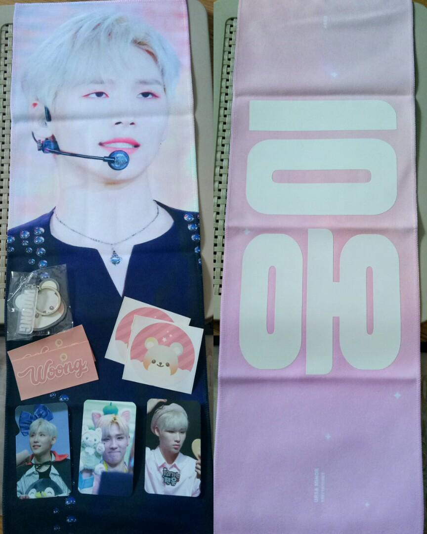 [WTS]AB6IX Woong fansite slogan by Ursa Minor(Ready stock)