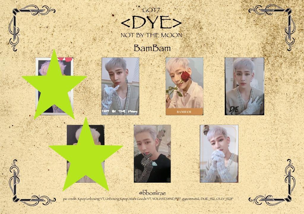 WTT ONLY> GOT7 Dye Album Lyrics Card and Photocards