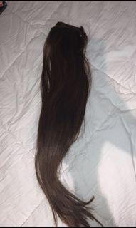 """18"""" Remy Virgin Hair with clip ins installed"""