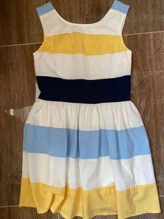 三色連身裙