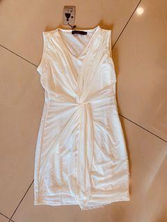 全新 包臀 純白 洋裝