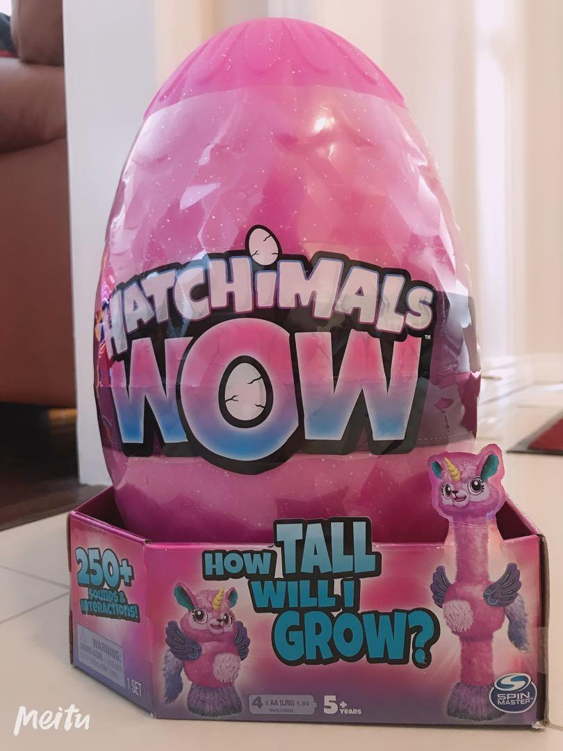 Brand New - HATCHIMALS WOW, How Tall Will I Grow