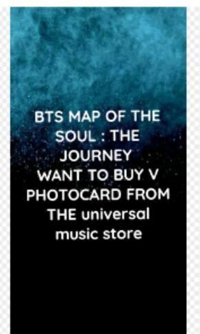 BTS MAP OF THE SOUL: THE JOURNEY (WANT BUY COLOURFUL VERSION V PHOTOCARD)