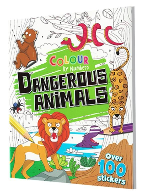 Color by Numbers - Dangerous Animals | English | Coloring Book | Sticker Book | Activity Book | Children's Book
