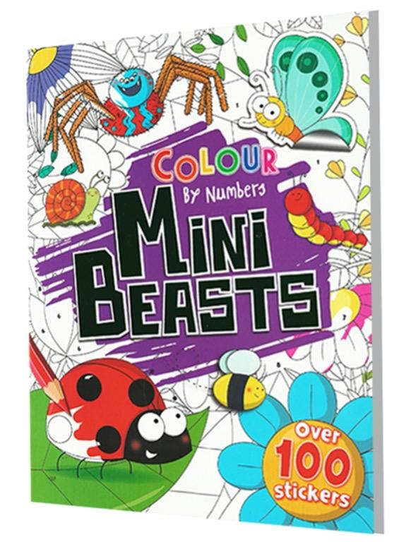 Color by Numbers - Mini Beasts | English | Coloring Book | Sticker Book | Activity Book | Children's Book