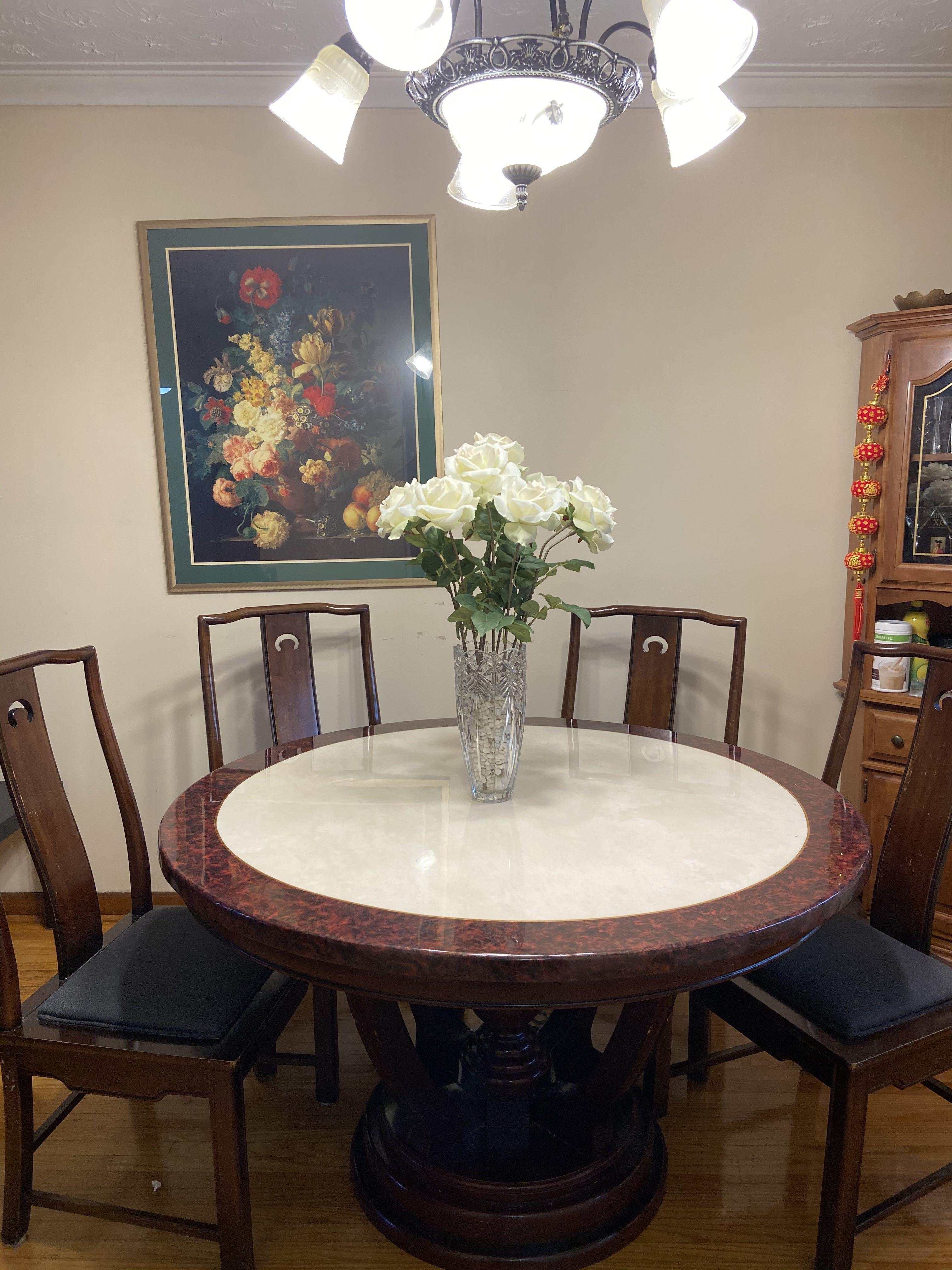 Dinning table and chairs + sofa and coffee table set